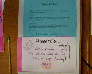 America Is Haiku Assignment
