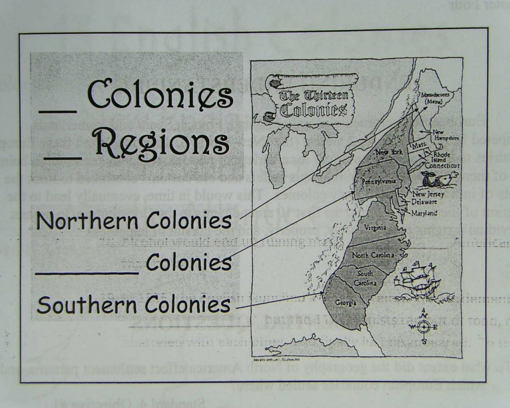 three colonial regions